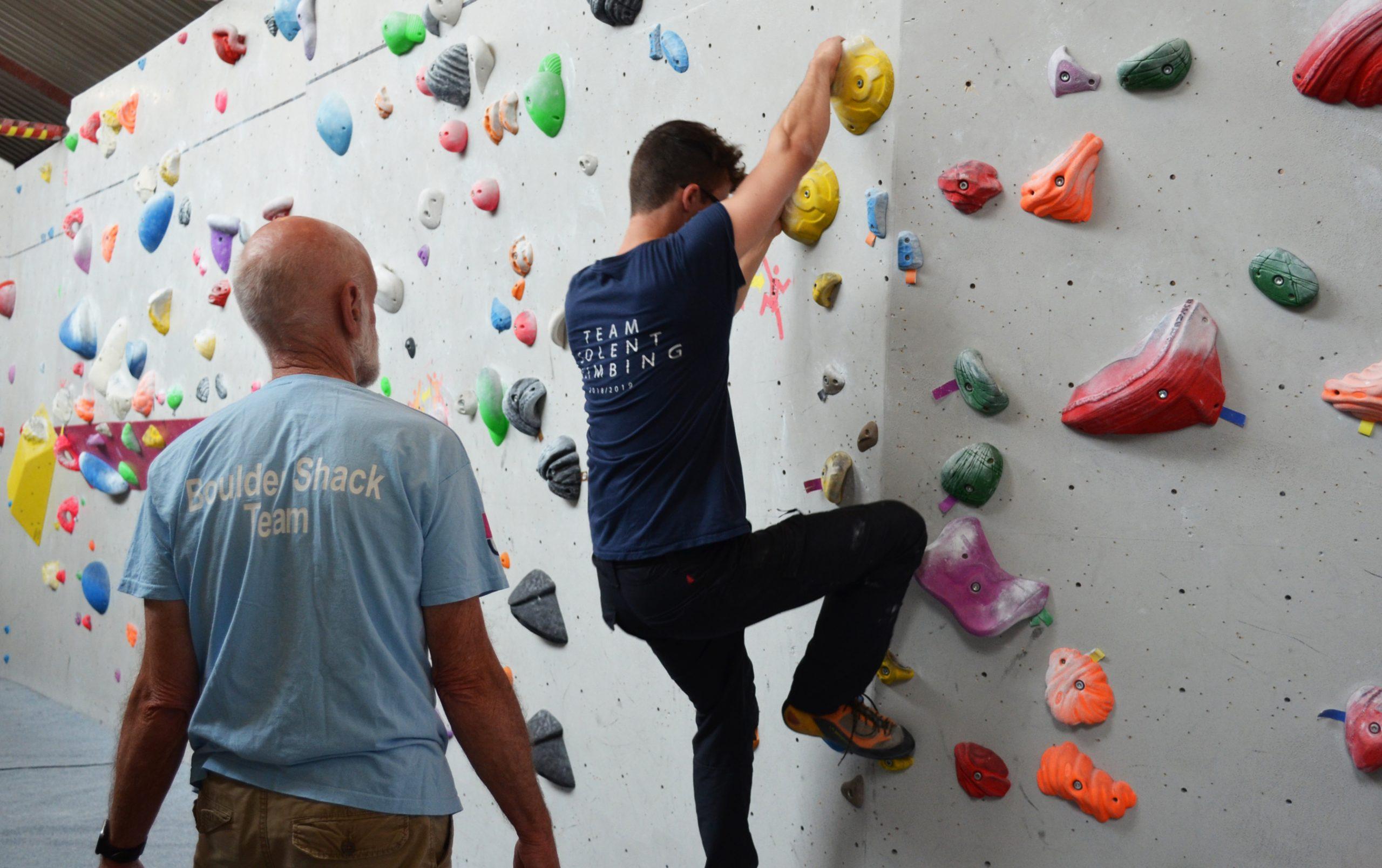 boulder shack coaching climbing fitness class